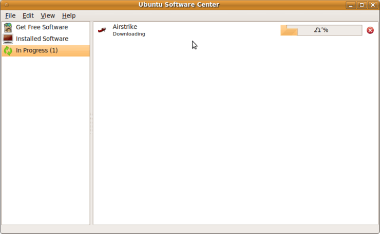 Ubuntu Software Center - Airstrike